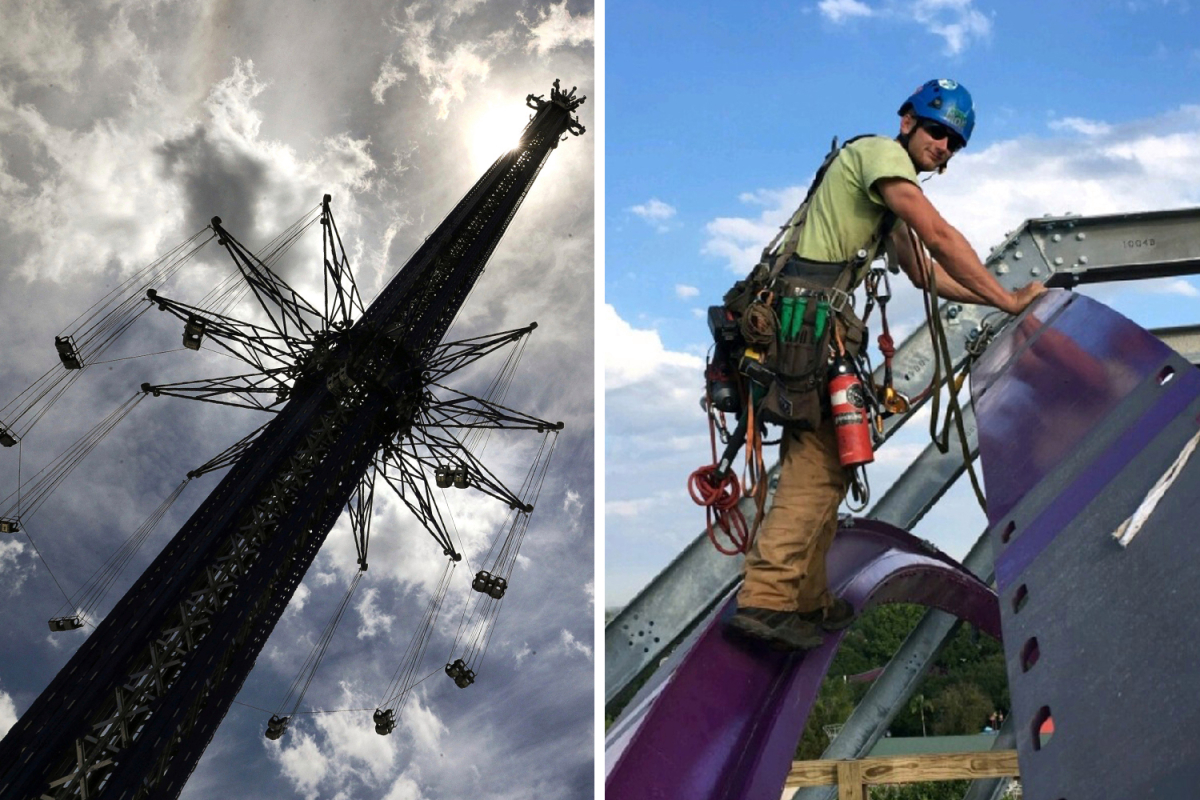 Amusement park worker, 21, plummets 450ft from world's tallest swing ride to his death during routine safety check