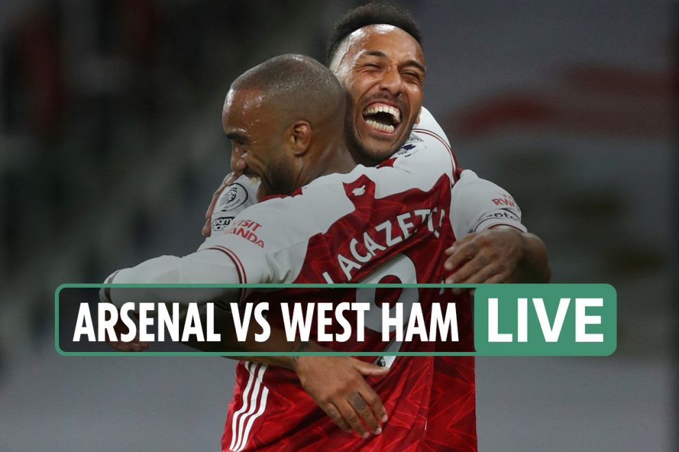 Arsenal vs West Ham LIVE SCORE: Stream, TV channel – Antonio levels on half-time after Lacazette headed in opener