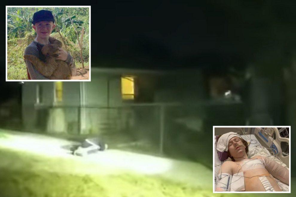 Cops release harrowing bodycam footage showing officer shoot autistic boy Linden Cameron, 13, ELEVEN times