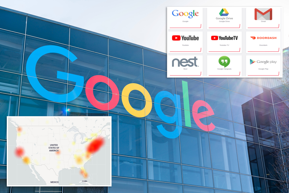 Every Google service including GMail YouTube and Hangouts CRASHES sparking chaos online
