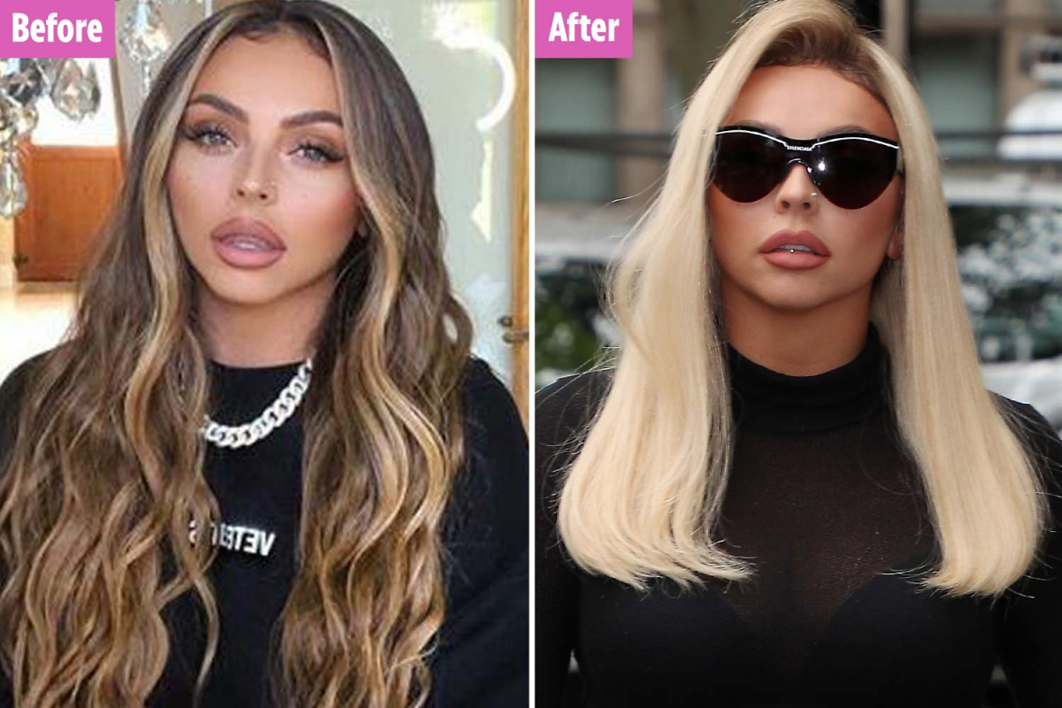 Jesy Nelson shows off her blonde hair transformation and flashes her abs after revealing she gained a stone in lockdown