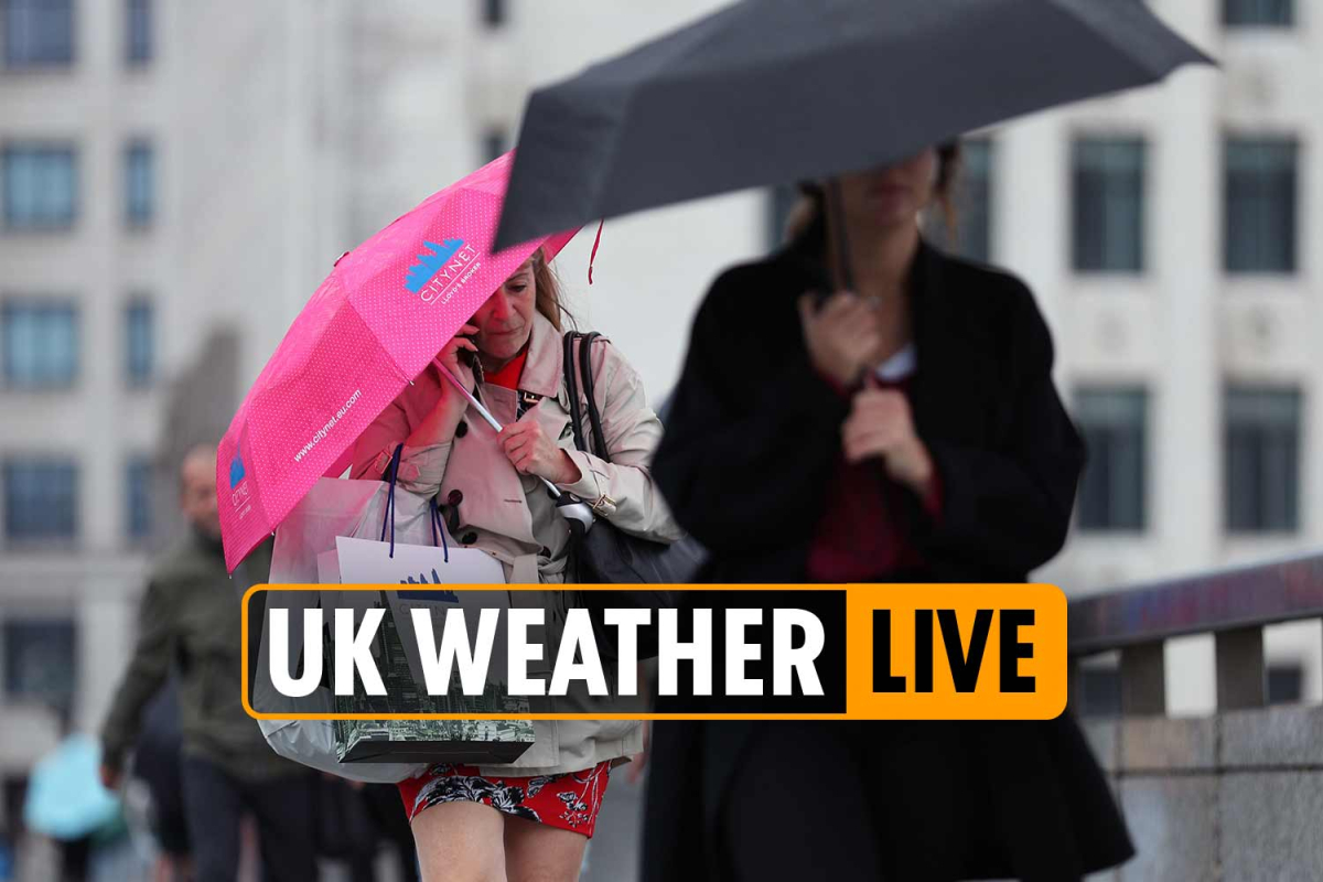 UK weather forecast TODAY – Met Office issues yellow warning as rain and heavy winds set to batter Britain
