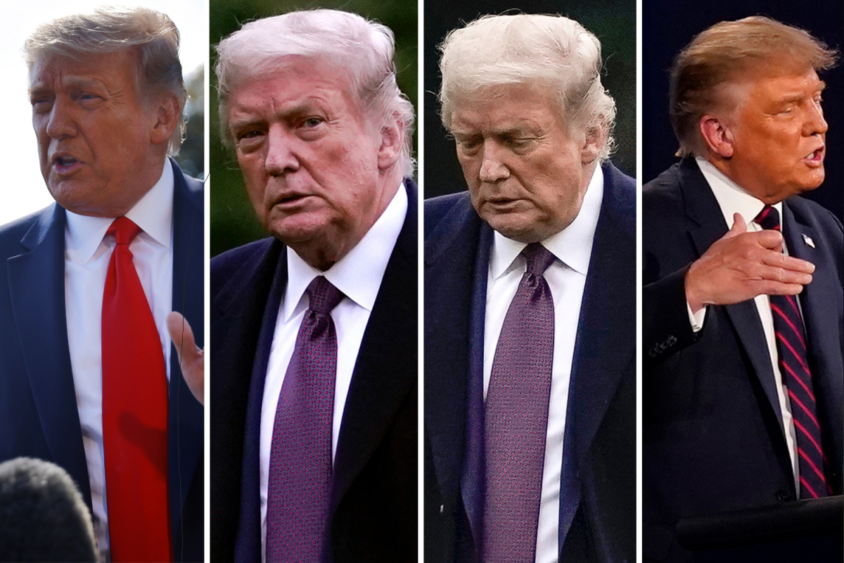 'Exhausted' Trump 'may have shown coronavirus symptoms on WEDNESDAY' just hours after debate with Joe Biden