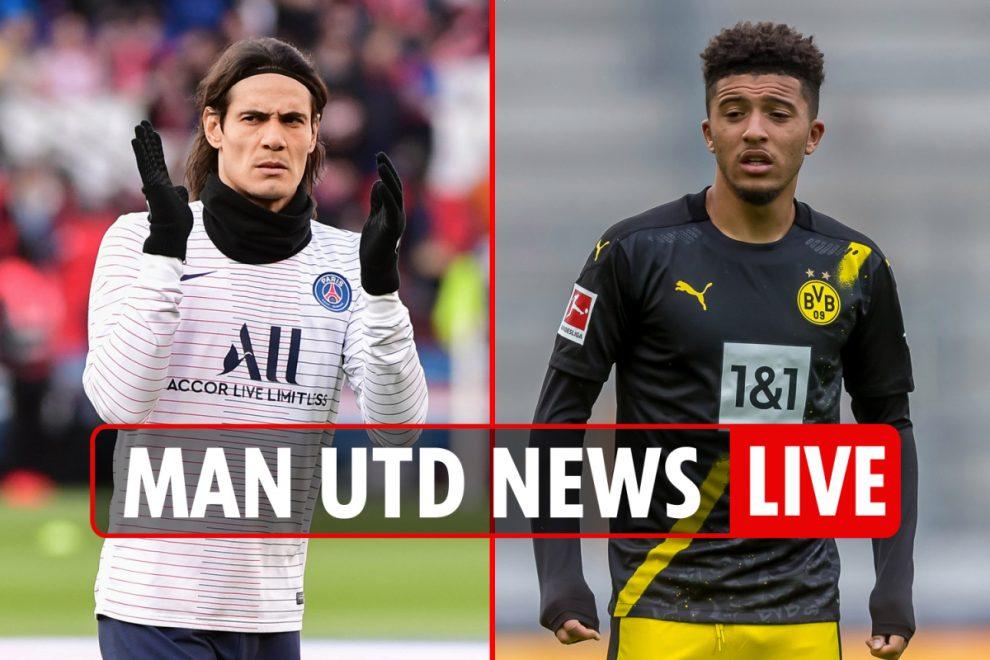 10.30am Man Utd transfer news LIVE: Cavani deal AGREED, Sancho latest, teen prodigy Pellistri 'done deal'