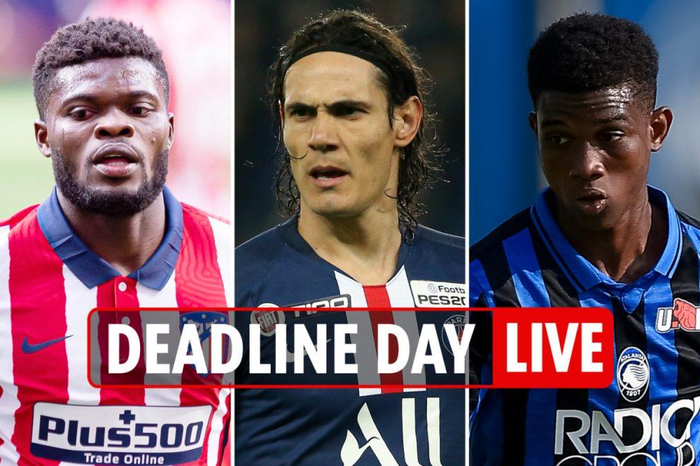 7am Transfer news LIVE: Partey signs for Arsenal, Walcott back at Saints, Wilshere LEAVES West Ham, Cavani to Man Utd