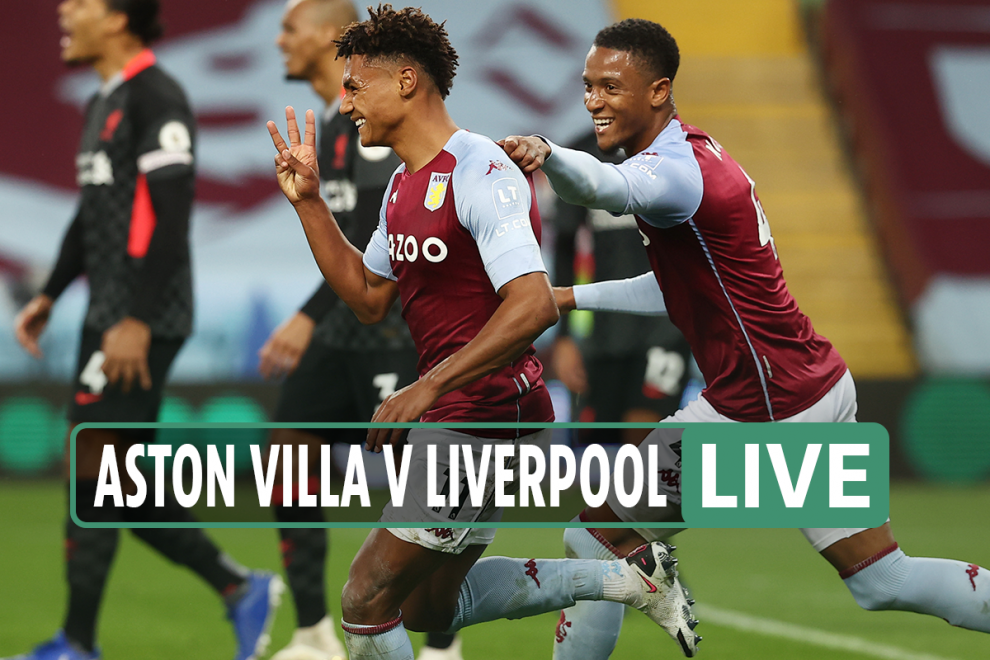 Aston Villa vs Liverpool LIVE SCORE: Latest updates from Premier League game at Villa Park