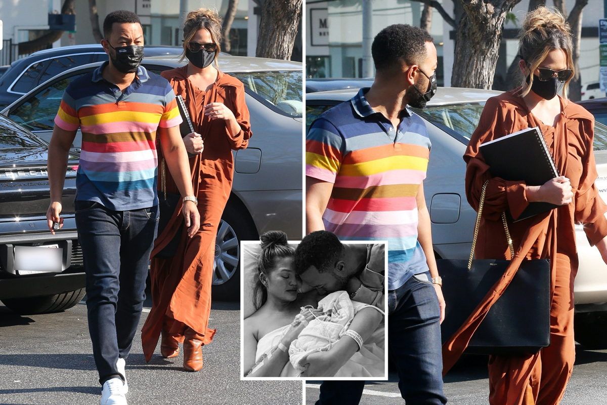 Chrissy Teigen spotted out for the first time with husband John Legend since couple tragically lost their baby Jack