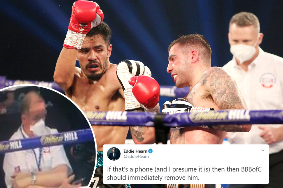 Eddie Hearn blasts judge after footage appears to show him using PHONE during Ritson vs Vazquez title fight