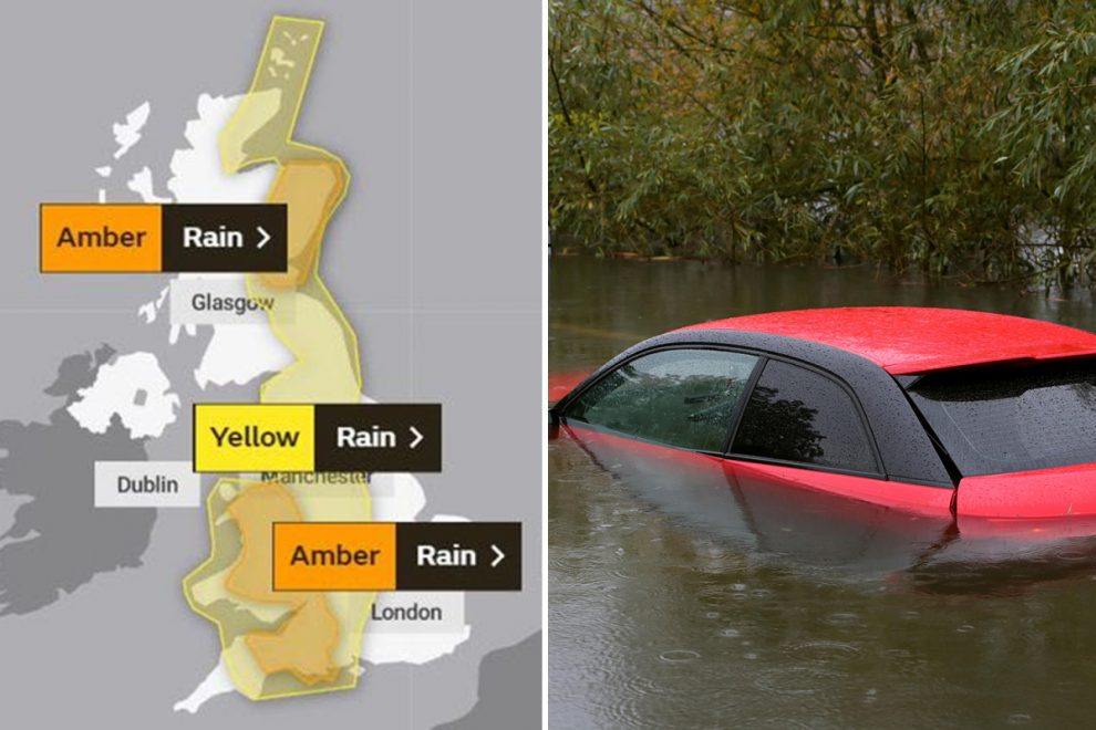 """UK weather – Brits brace for more downpours amid warning """"fast-flowing"""" floods could cut off towns and threaten lives"""