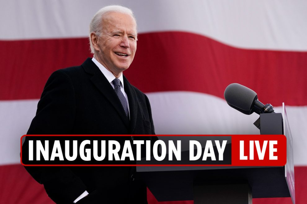 Inauguration Day 2021 LIVE – Joe Biden vows to reverse SEVENTEEN Donald Trump policies on day 1 of his presidency