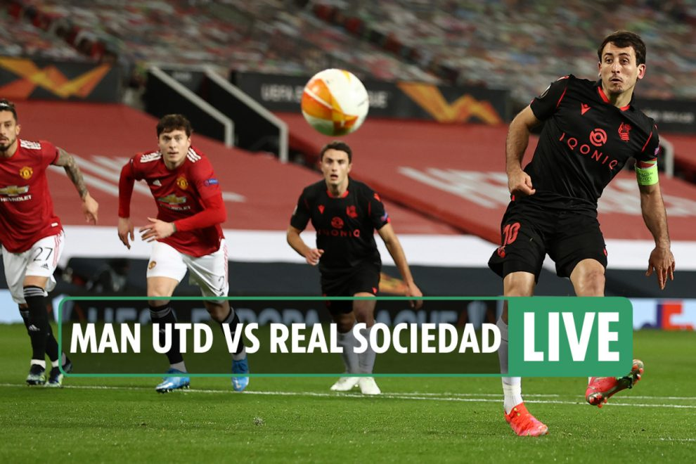 Man Utd vs Real Sociedad LIVE: Stream FREE, score, TV info as Fernandes hits crossbar – Europa League latest updates