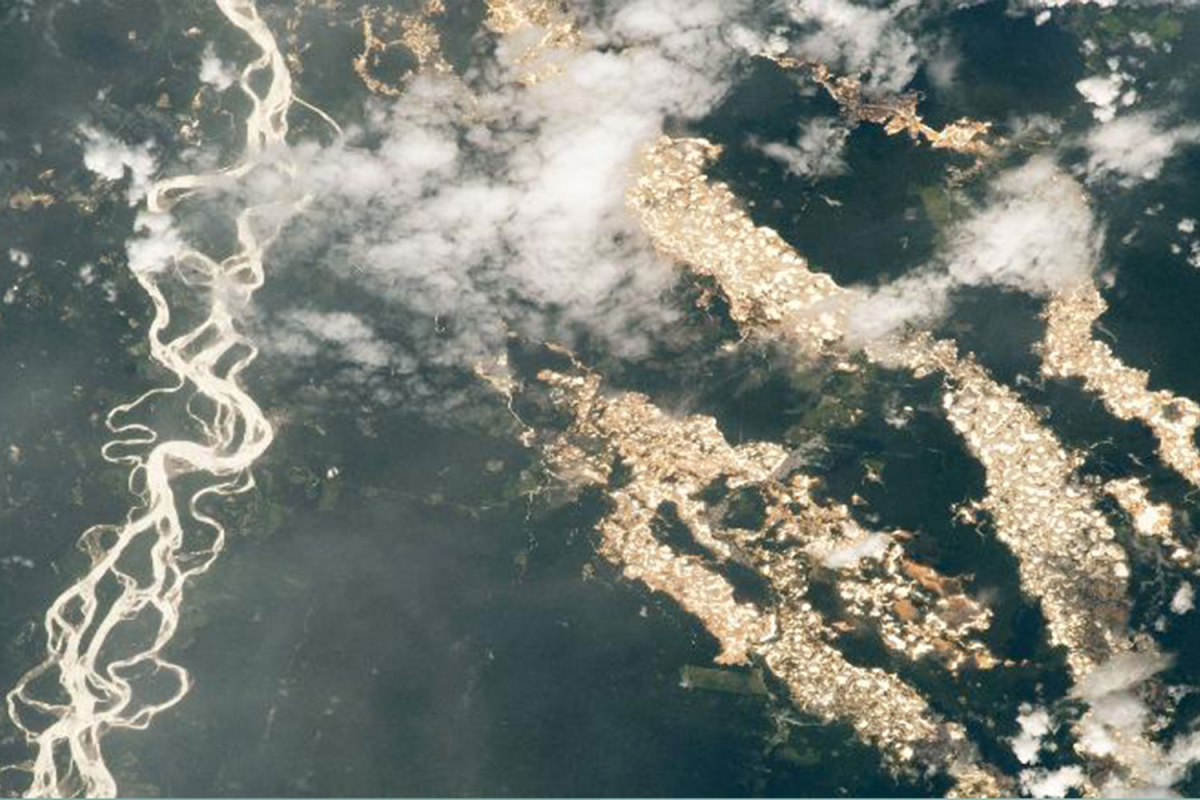 Shocking NASA images show the devastating 'rivers of gold' mining pits poisoning the Amazon