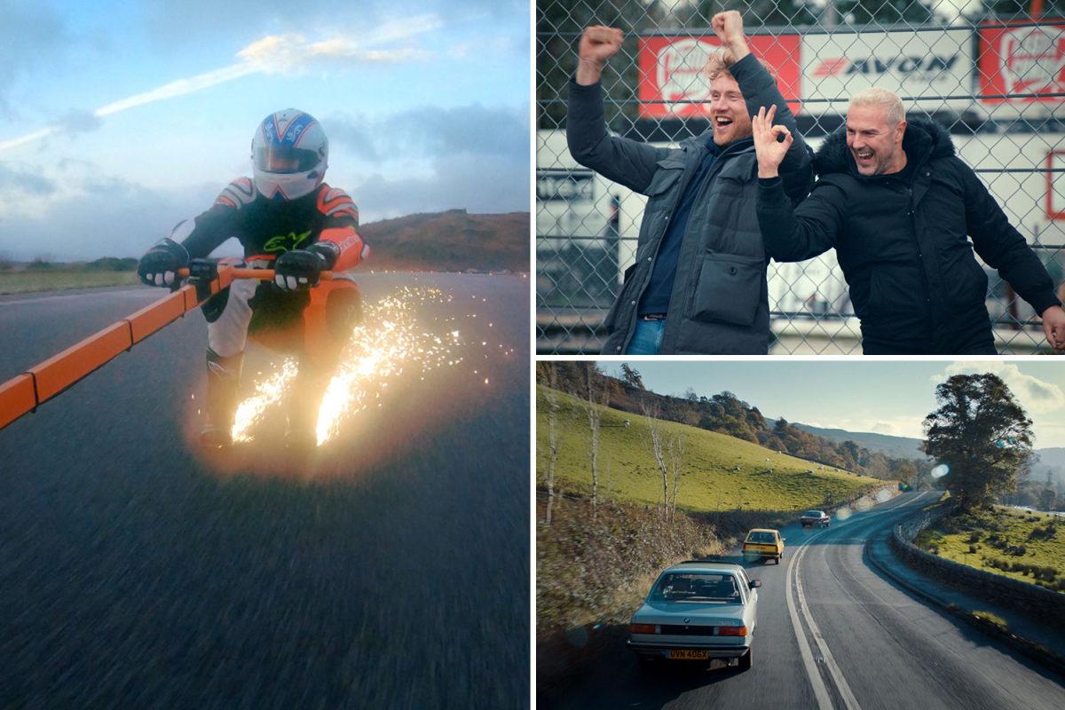 Top Gear's next series revealed with Freddie Flintoff being dragged along by a car at 80mph wearing titanium shoes