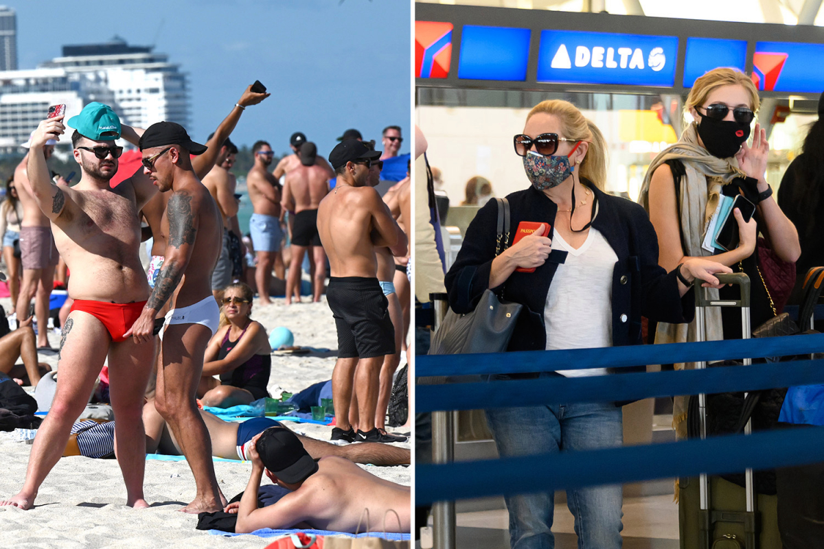 CDC begs Spring Breakers NOT to travel amid Covid surge fears as TSA screens pandemic-high of 1.3m passengers in one day