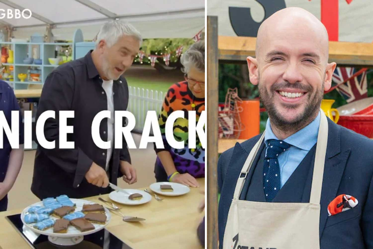 Celebrity Bake Off fans left 'howling' over Paul Hollywood's cheeky 'nice crack' comment to Tom Allen