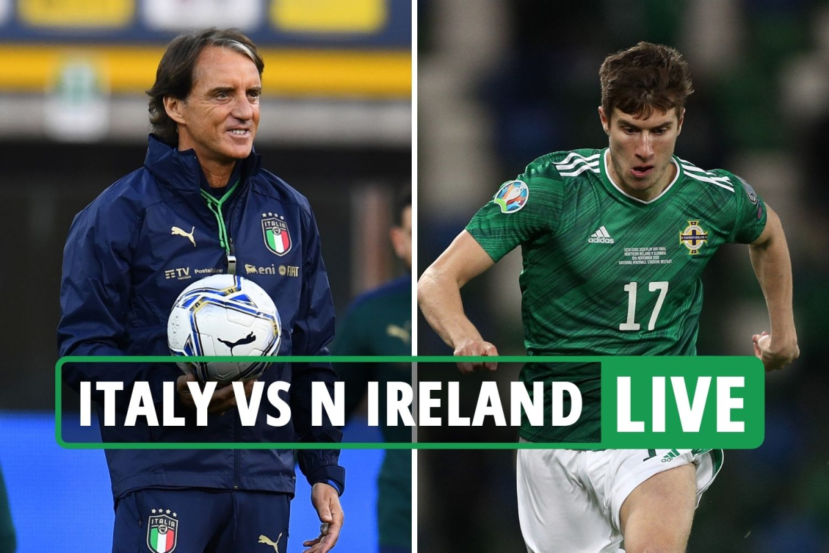 Italy vs Northern Ireland LIVE: Stream, TV channel, score, teams and kick-off time for World Cup 2022 qualifying