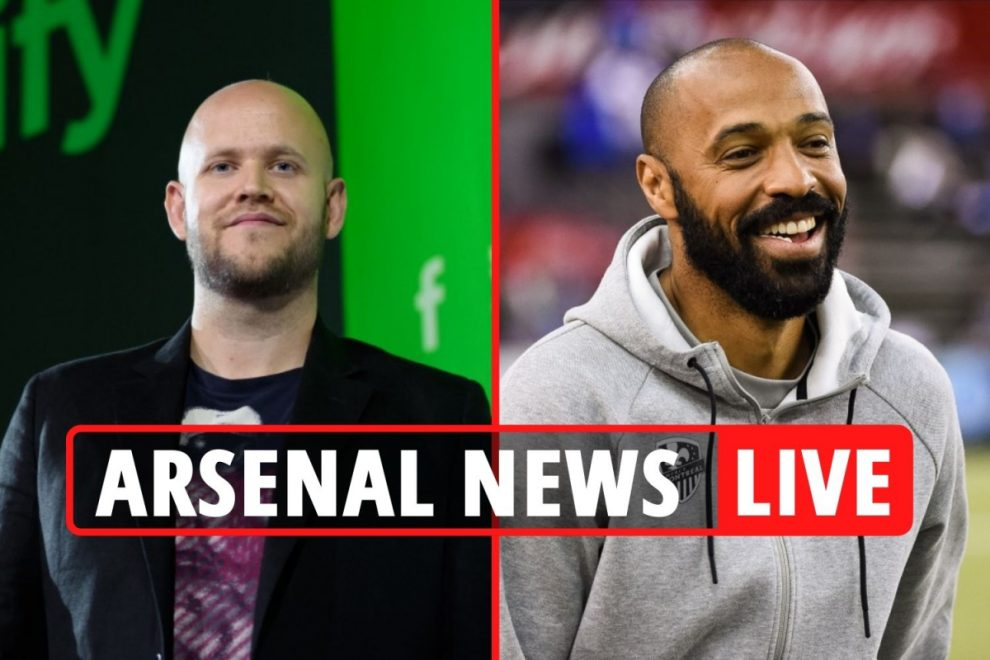 Arsenal takeover LIVE: Spotify founder Daniel Ek along with Henry, Bergkamp and Vieira in bid – transfer news latest