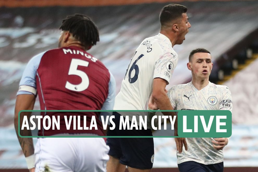 Aston Villa vs Man City LIVE: Stream, TV channel and score – Rodri and Foden put City ahead after early McGinn strike