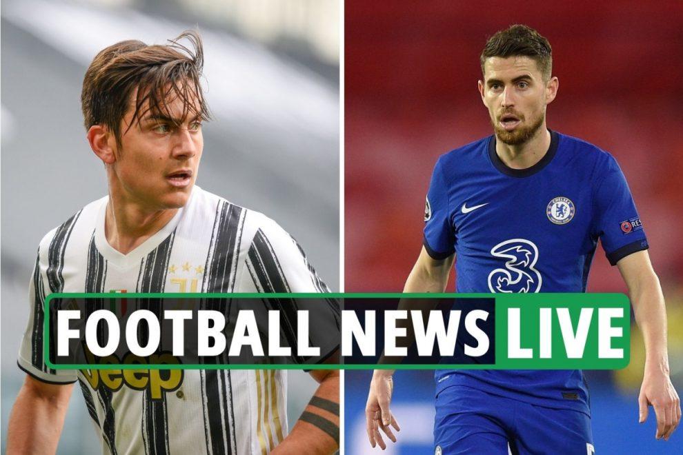 Chelsea Dybala-Jorginho swap, Aguero LATEST, Arsenal Aubameyang update – Liverpool and Man City transfer news