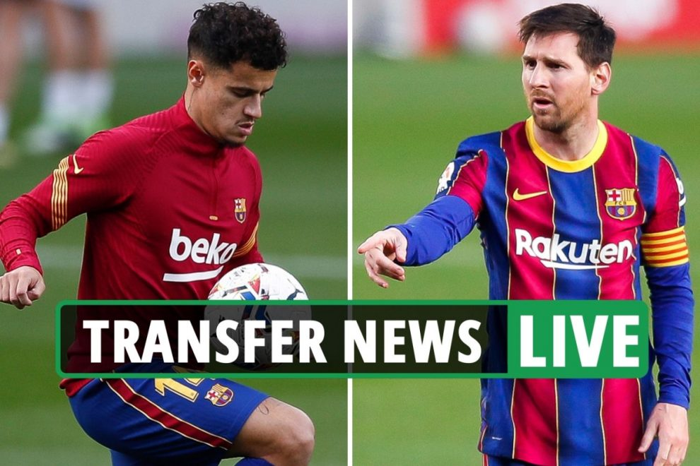 Coutinho £35m Everton EXCLUSIVE, Messi 'considering 50 per cent Barcelona pay cut' – Chelsea & Man City transfer news