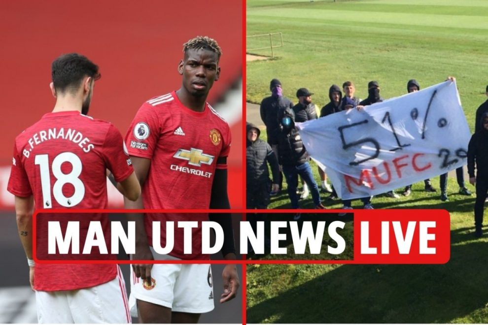 Man Utd fans plot protest ahead of Liverpool clash on May 2, Pogba and Bruno contract extension latest, Leeds build-up