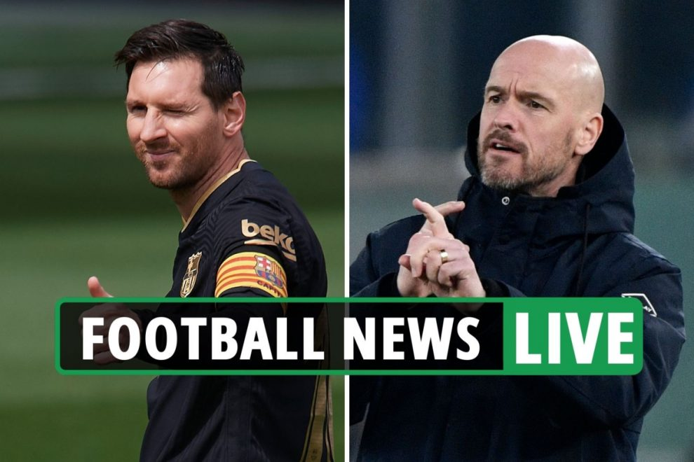 Messi PSG deal latest, Ten Hag favourite for Tottenham job, Stones contract EXCLUSIVE – Chelsea, Man City transfer news