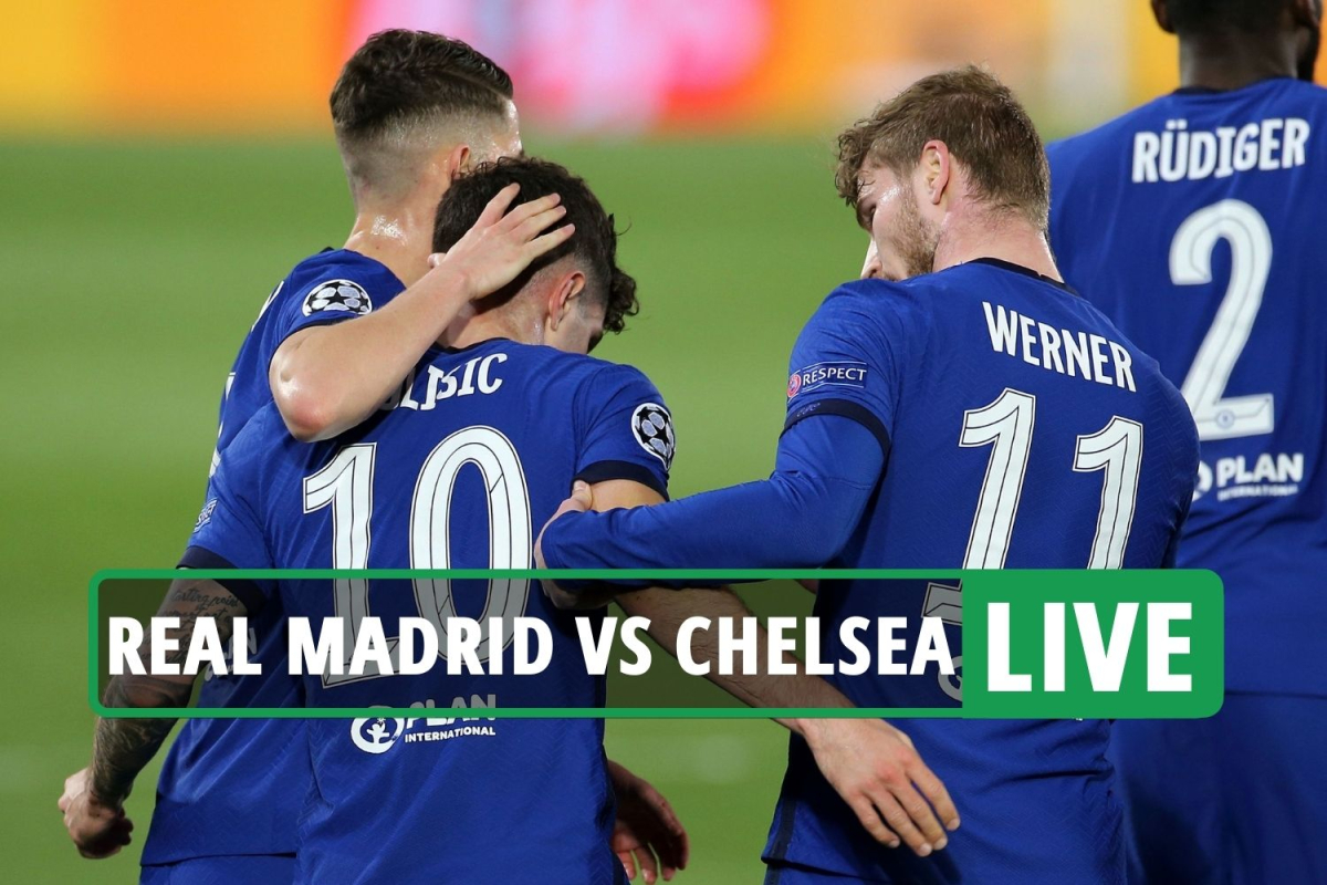 Real Madrid 1 Chelsea 1 LIVE REACTION: Pulisic nets vital away goal as Blues take control of Champions League tie