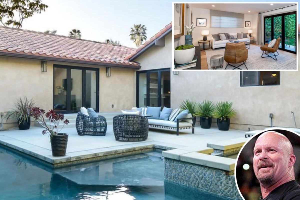 WWE icon Stone Cold Steve Austin sells LA mansion for £2.5m featuring party pool and hot tub