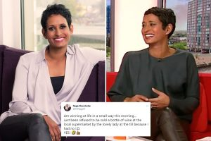 BBC Breakfast's Naga Munchetty, 46, thrilled as she's refused bottle of wine as shopkeeper didn't believe she's over 18