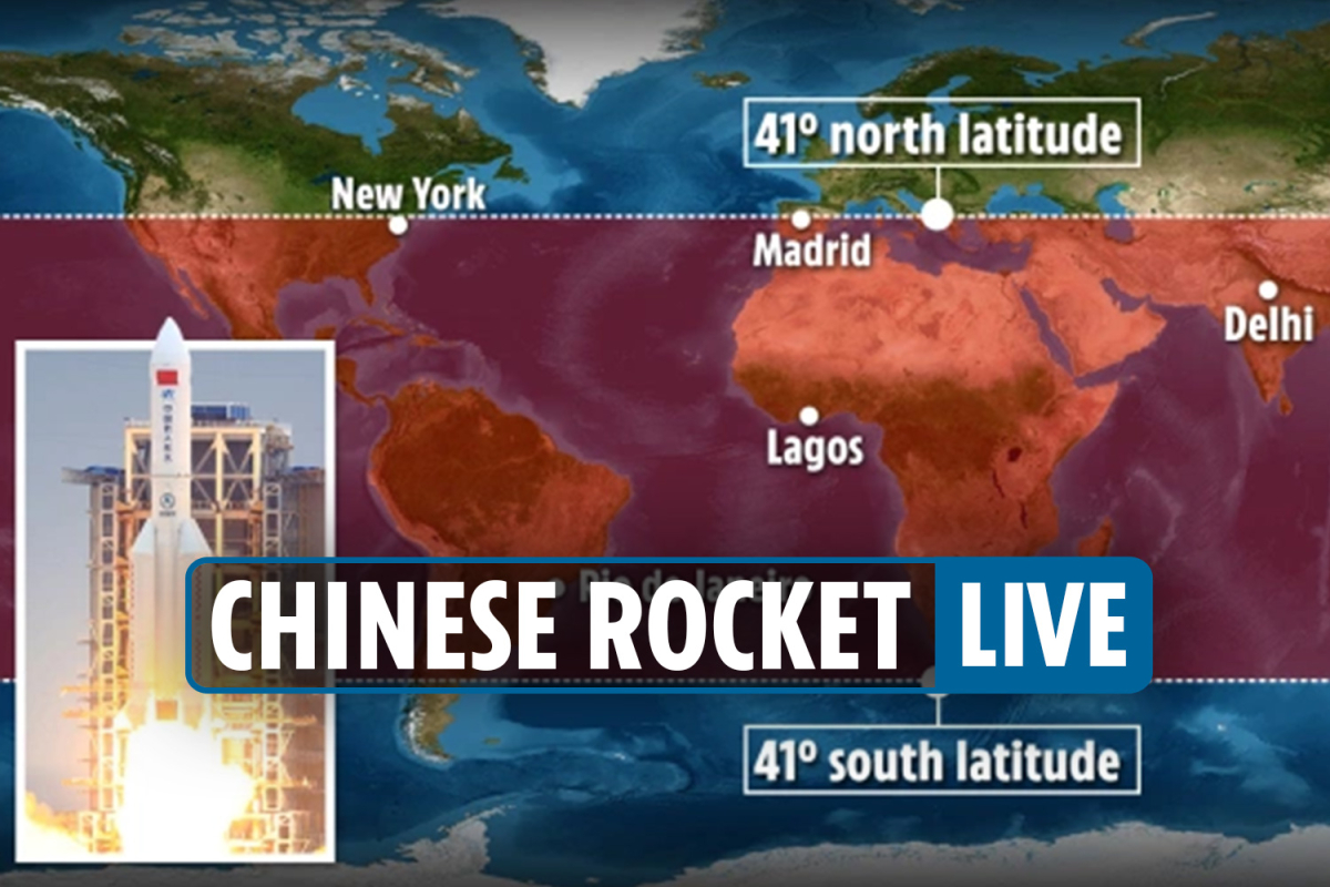 Chinese rocket tracker LIVE: 21-ton booster debris PLUNGES into Indian Ocean on Sunday despite fears it would hit US