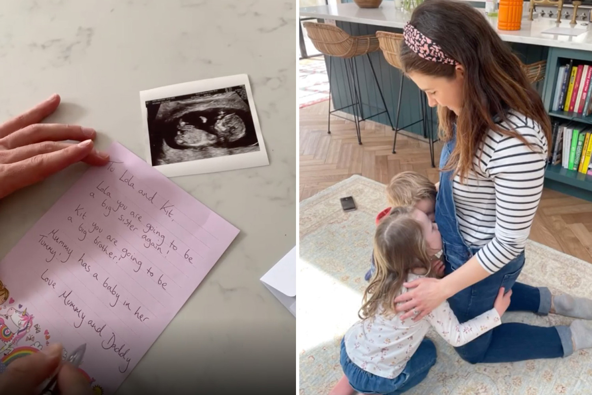 McFly's Harry Judd and pregnant wife Izzy share adorable moment they told their children 'mummy has a baby in her tummy'