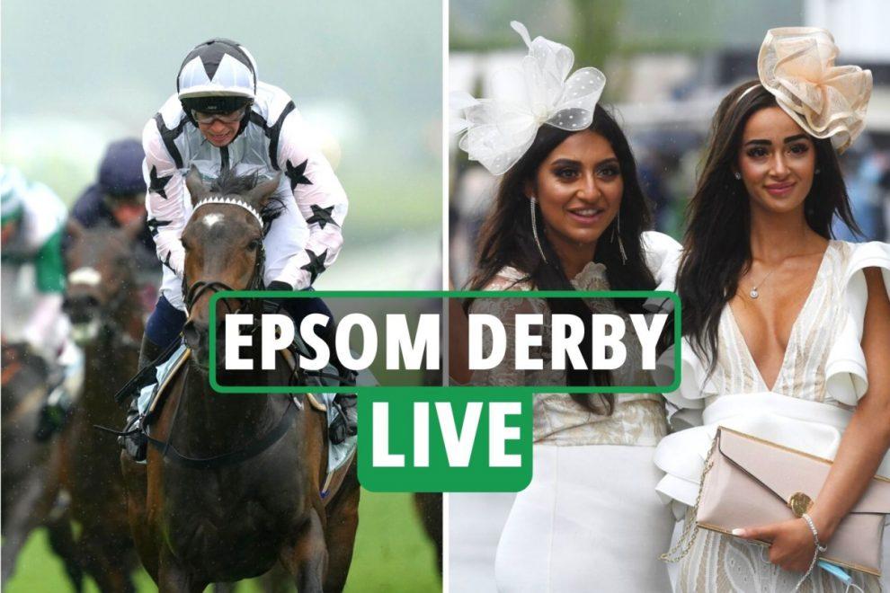 Epsom Derby races LIVE RESULTS: Punters arrive at Ladies' Day in rain as huge weekend of racing gets underway