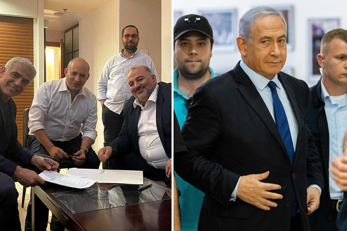 Israel Prime Minister Benjamin Netanyahu on the brink after EIGHT opposition parties form coalition to end 12-year reign