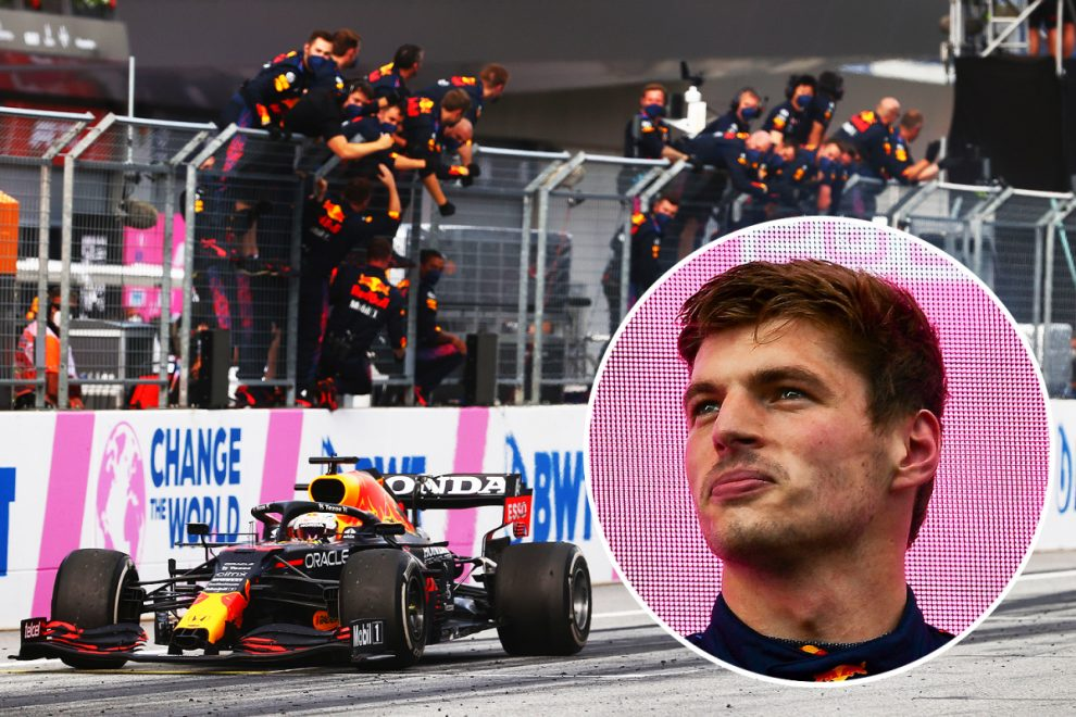 Max Verstappen given FIA warning after doing 'burnout' over line at Styrian Grand Prix as race director fumes