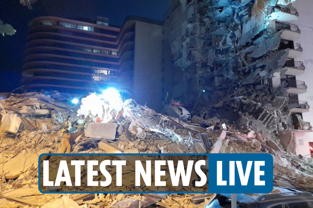 Miami Beach building collapse live – Mass casualties feared at Champlain Tower as witnesses 'hear screams from rubble'