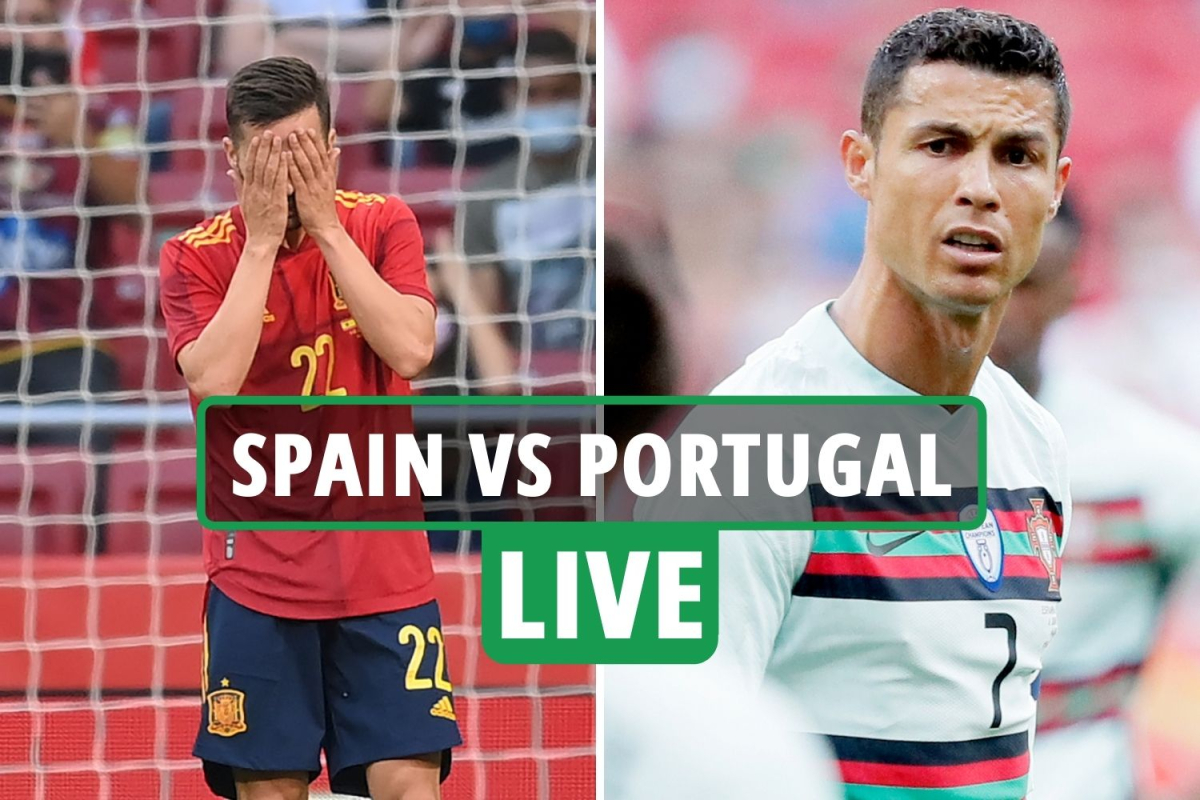Spain vs Portugal LIVE SCORE: Cristiano Ronaldo and co remain level as hosts miss sitter in Euro 2020 warm-up