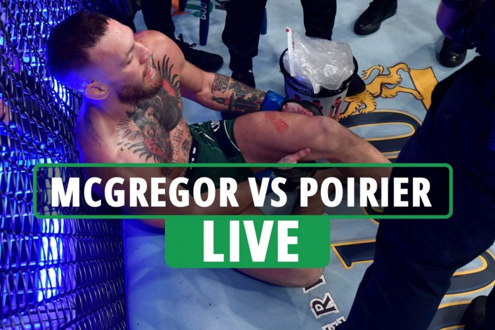 Conor McGregor BREAKS LEG in horror UFC 264 loss live updates – Notorious rushed to hospital as FOURTH fight confirmed