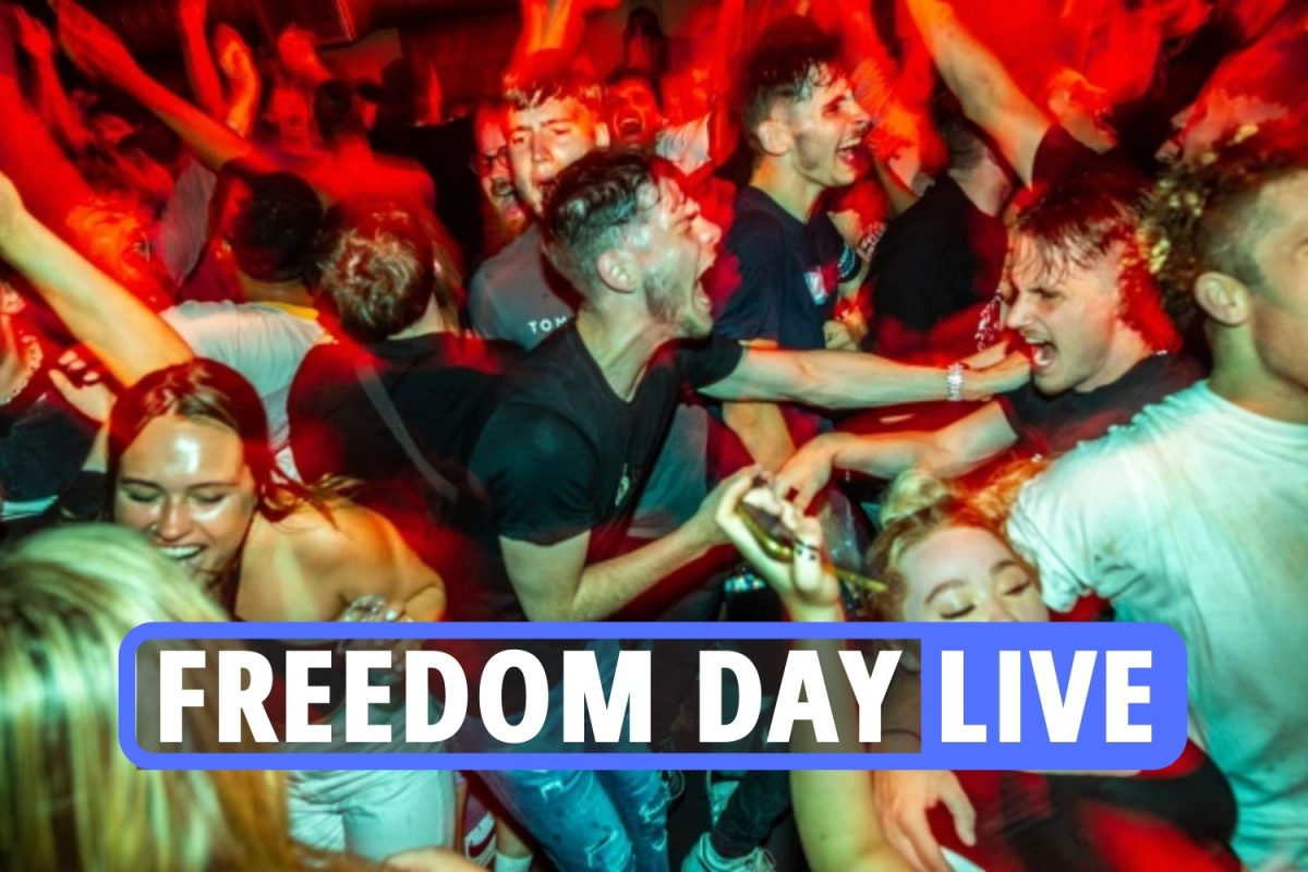 Freedom Day UK news – 'Pingdemic' chaos as lockdown & face mask rules dropped but covid cases leave millions terrified