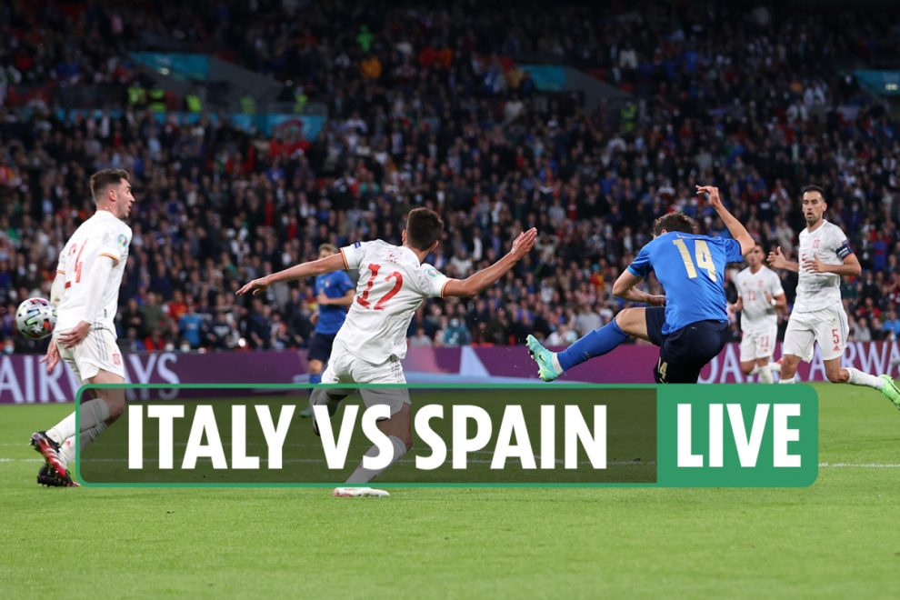 Italy vs Spain LIVE: Stream FREE, score, TV channel as Chiesa NETS superb opener – Euro 2020 semi-final latest updates