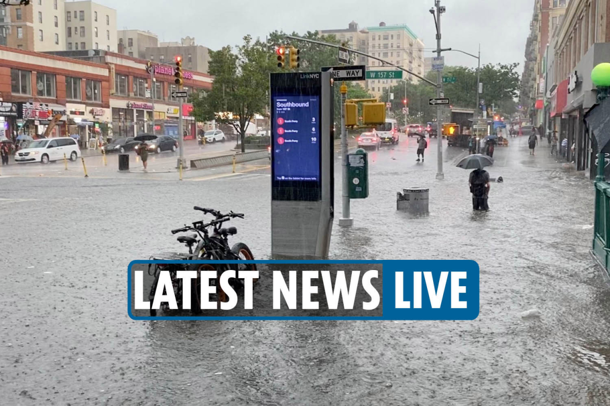 NYC flooding today LIVE – Subway filled with water in wild vids as heavy rain continues from Tropical Storm Elsa