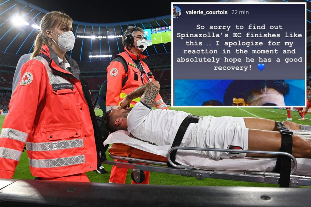 Thibaut Courtois' sister apologises to Leonardo Spinazzola for accusing him of time-wasting after Achilles injury