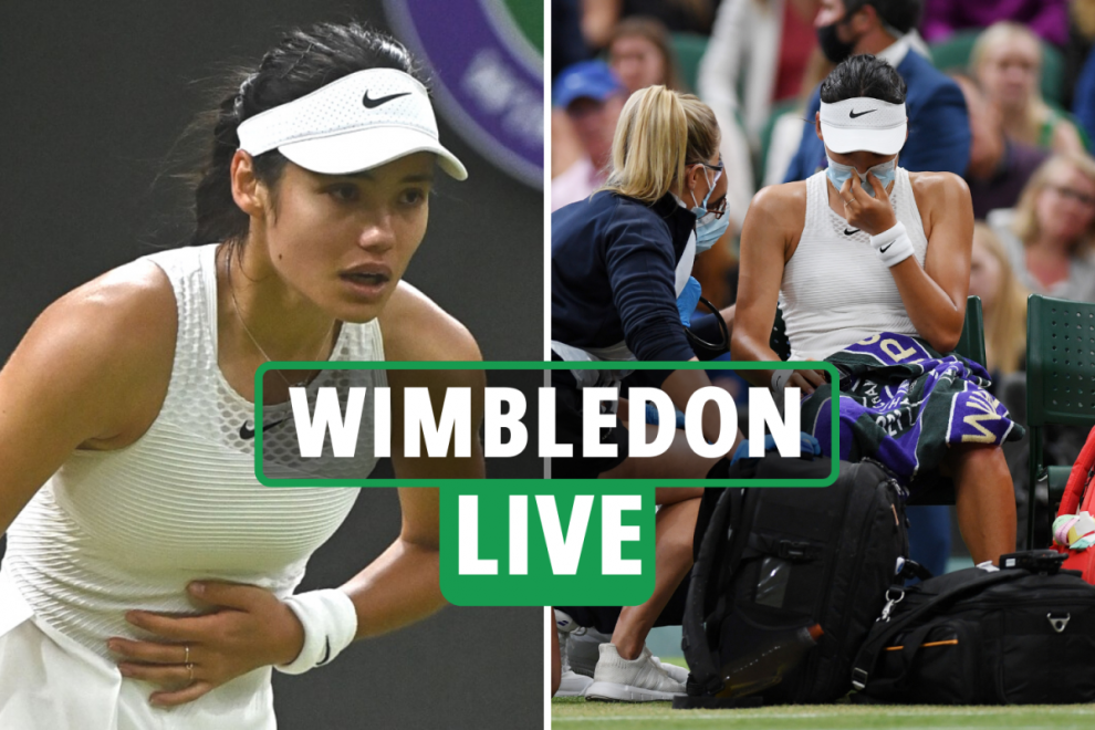 Wimbledon 2021 LIVE RESULTS: Emma Raducanu withdrawal confirmed as 'difficulty breathing' in referee's doc – latest