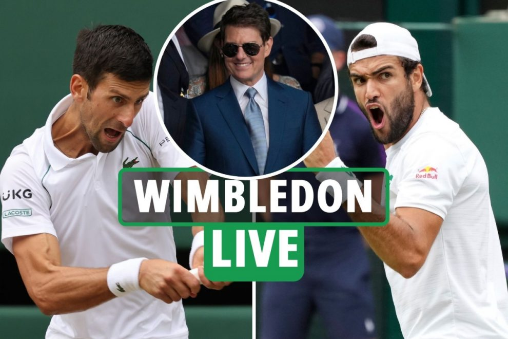 Wimbledon final 2021 LIVE RESULTS: Djokovic wins second set after Berrettini takes first on tie-break – latest updates