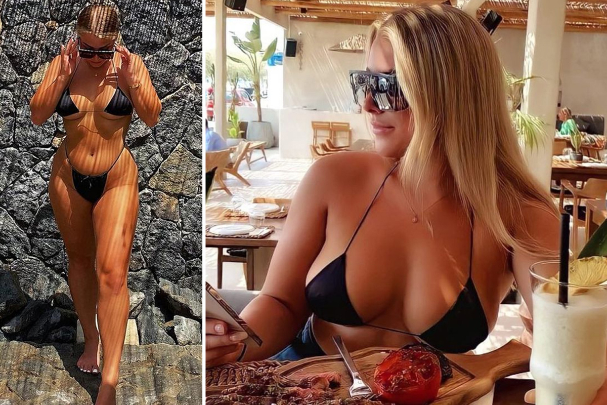 OnlyFans model and ex-Charlton star Madelene Wright gives fans free glimpse of stunning body on trip to Santorini