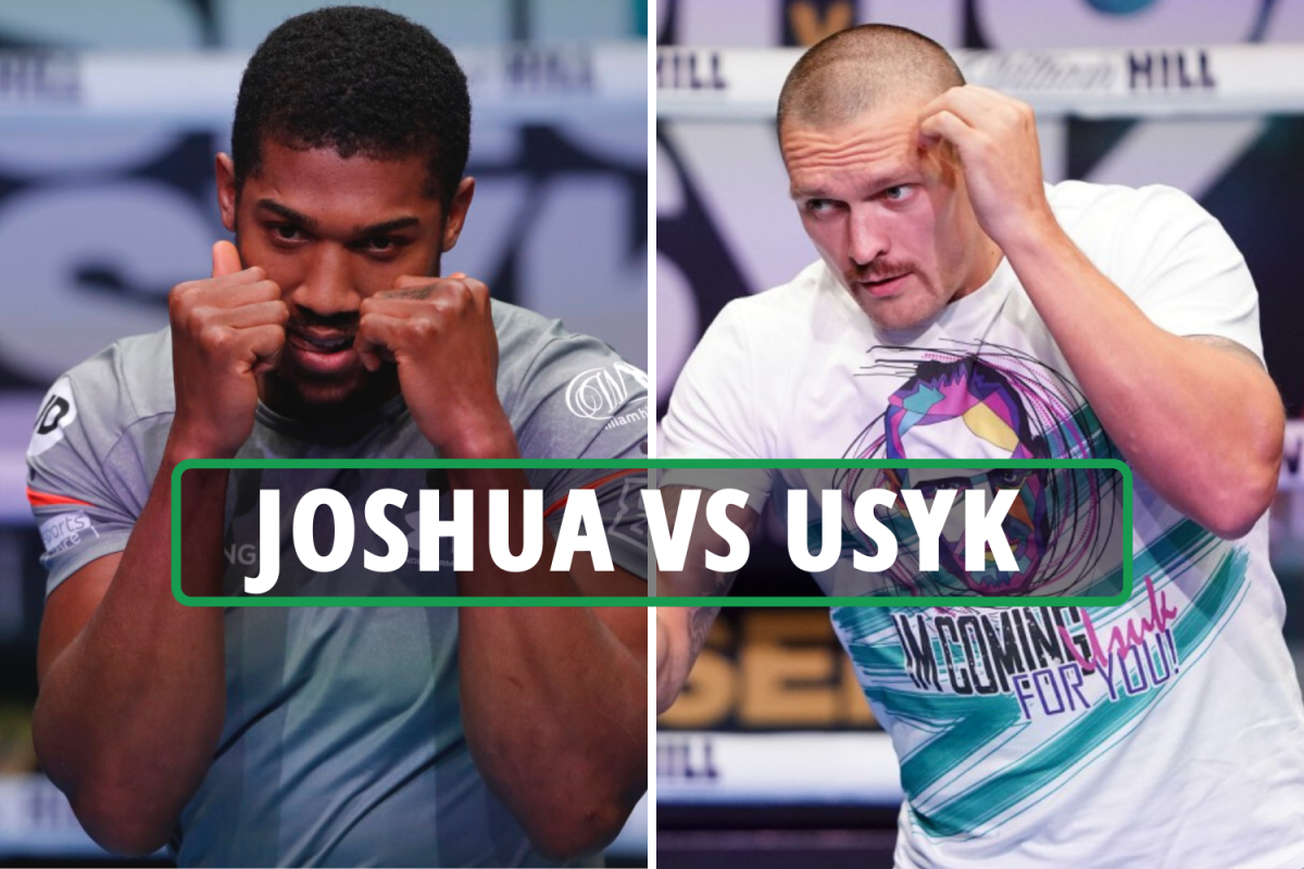Anthony Joshua vs Oleksandr Usyk: Date, start time UK, TV channel, live stream and full undercard for big title fight
