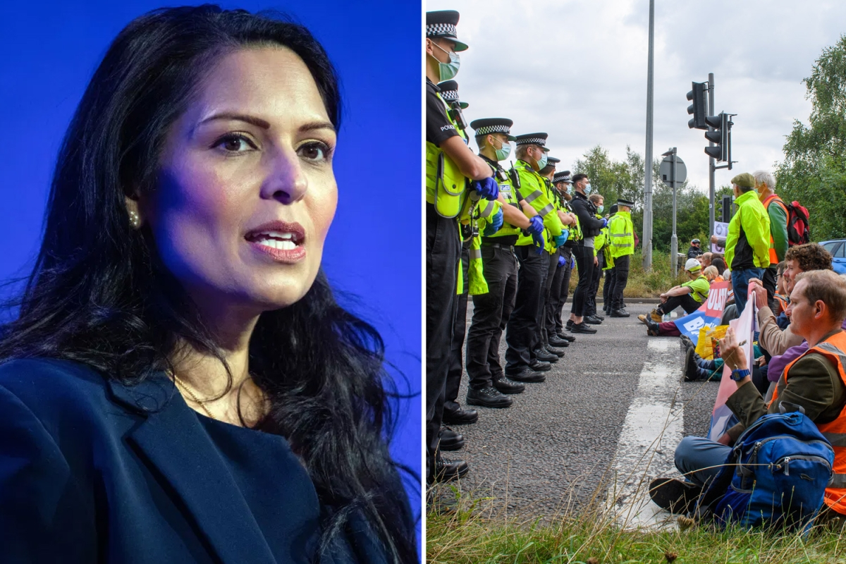 Eco-extremists face JAIL under new government powers to tackle illegal protests, Priti Patel says