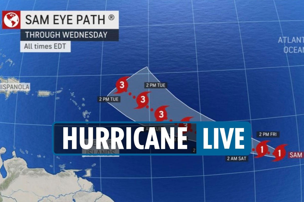Hurricane Sam path 2021 LIVE – Storm 'to be Category 4' as trackers say it could head for East Coast after strengthening
